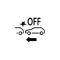 (Suivant véhicule) Témoin de défaillance ou de non disponibilité du freinage actif d'urgence